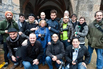 Foto de grupo durante el taller de Cristina García Rodero.