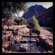 Pozas de agua caliente en el río Cidacos.