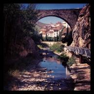 El río Cidacos a su paso por Arnedillo.